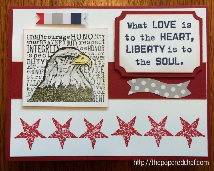 Eagle Liberty card using The Free & the Brave stamp set