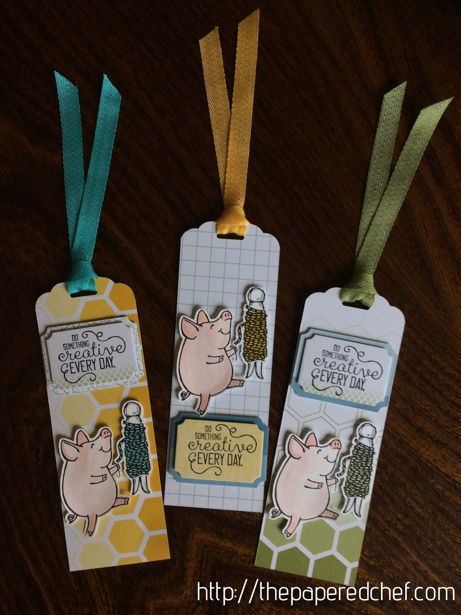Do Something Creative Piggy Bookmark
