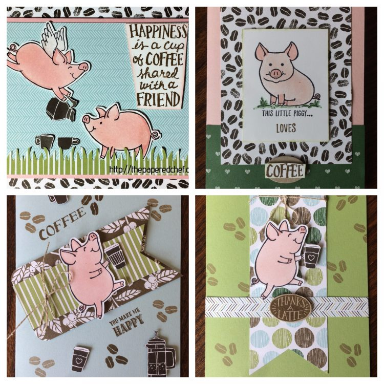 Perked Up Pigs - This Little Piggy Coffee Cards