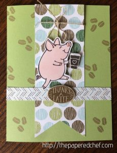 Thanks a Latte Piggy Card