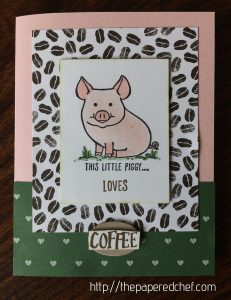 This Little Piggy Loves Coffee Card