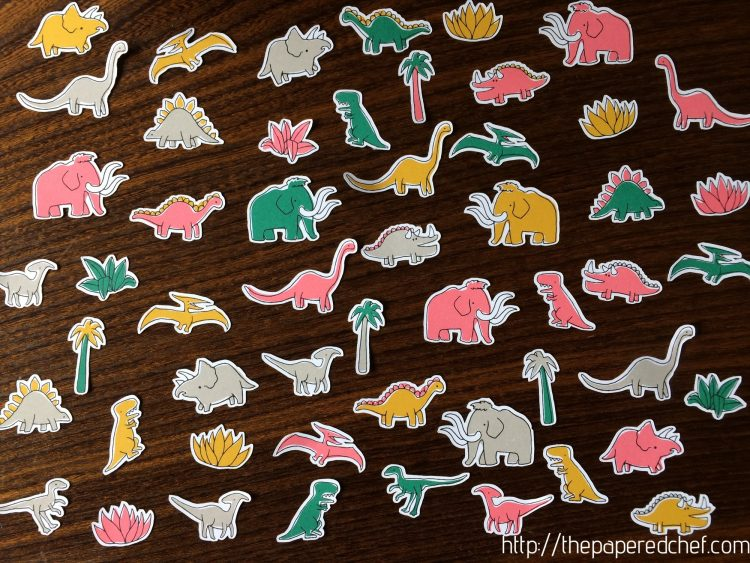 Dinosaurs cut from Pick a Pattern DSP