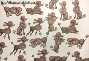 Poodles Cut out with the Brother Scan N' Cut