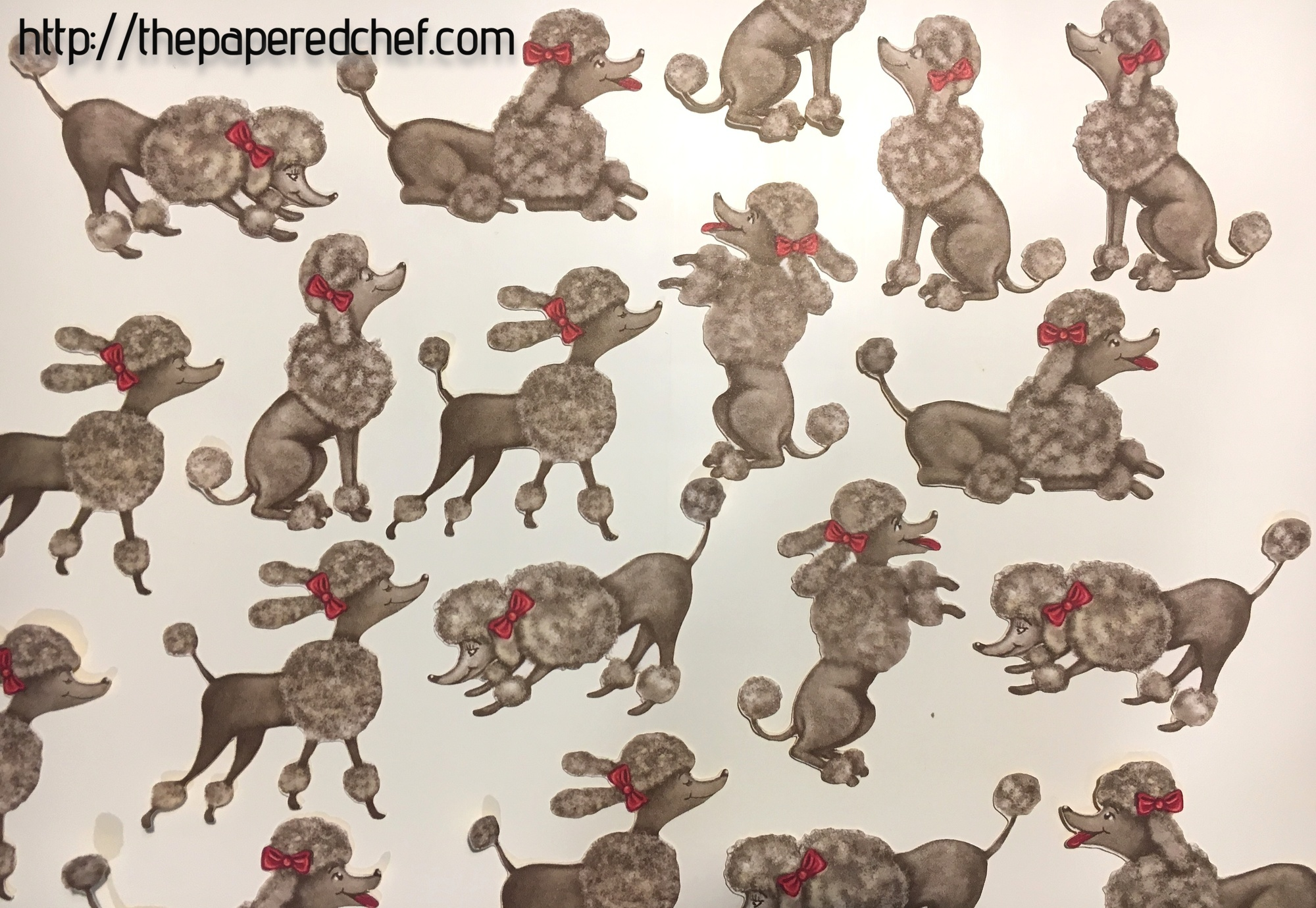 Cutting Out Poodles With The Brother Scan N Cut
