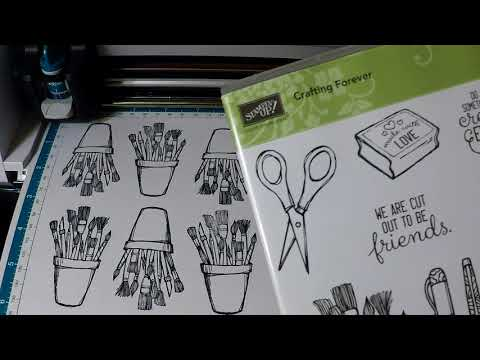 Cutting out Stamped Images with the Brother Scan N' Cut – Crafting Forever