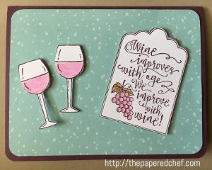 Half Full Wine Card