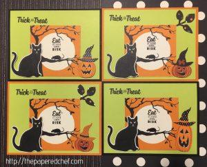 Spooky Cat Halloween Cards