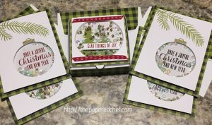 Pining for Plaid Pizza Box & Shaker Cards