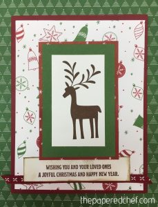 Card created with the Merry Mistletoe stamp set & Be Merry dsp