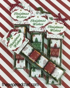 Nuggets created with the Merry Mistletoe stamp set & Be Merry dsp