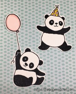 Party Pandas cut out with the Brother Scan N' Cut