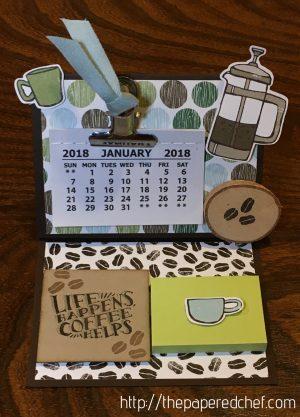 Coffee Break Mini Desktop Calendar