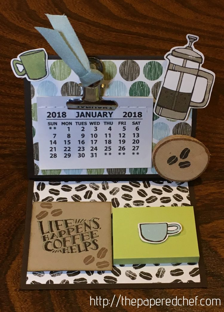 Coffee Break Mini Desktop Calendar