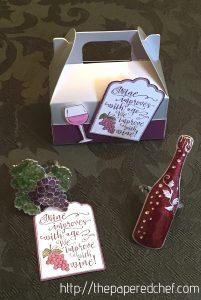 Half Full Wine Mini Silver Gable Box