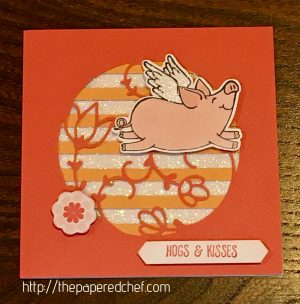 Hogs and Kisses This Little Piggy Card