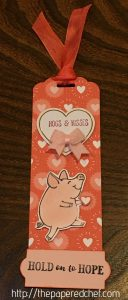 Hold on to Hope This Little Piggy Bookmark
