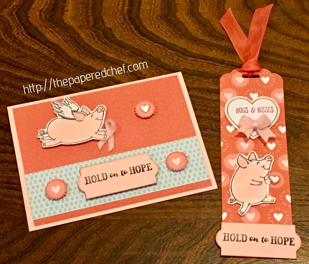 Hold on to Hope This Little Piggy Card and Bookmark