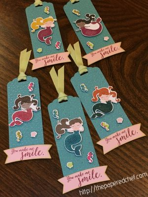 You Made me Smile Mermaid Bookmarks