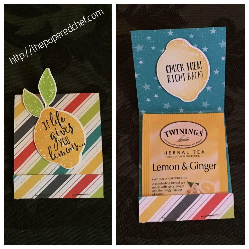 Lemon Zest Tea Bag Matchbook