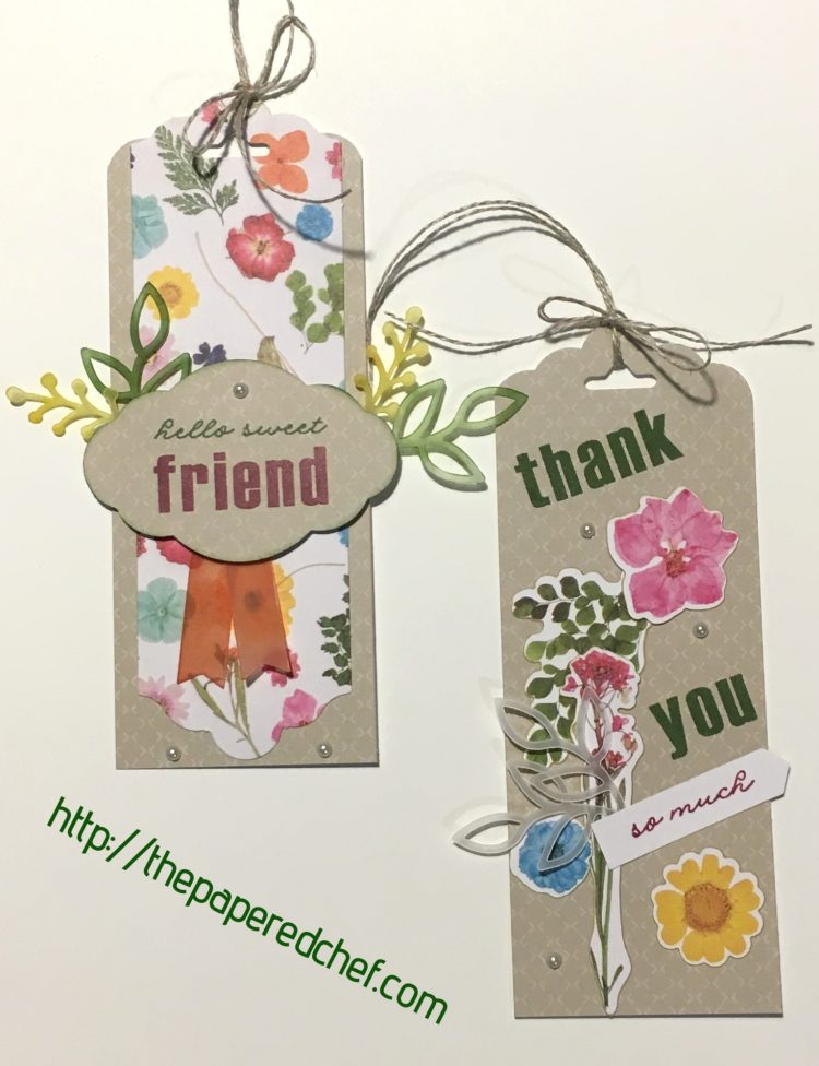 Wildflower Wishes Bookmarks - February 2018 Paper Pumpkin