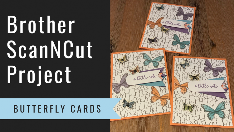 Brother ScanNCut Project - Butterfly Cards