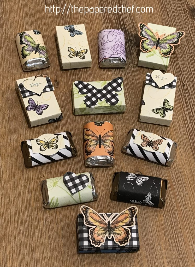 Botanical Butterfly - Hershey Miniatures - Mini Treat Boxes