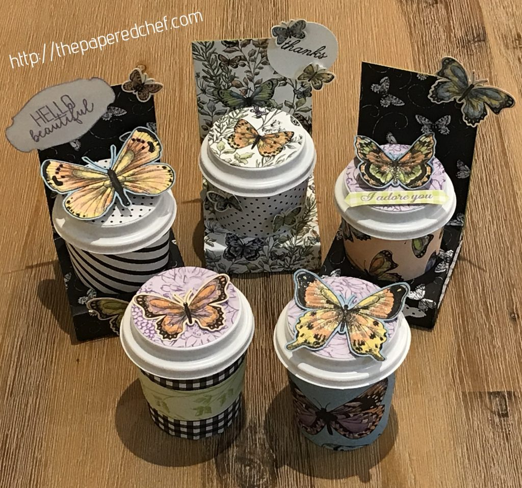 Botanical Butterfly - Mini Coffee Cups