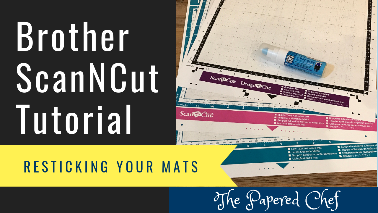 Brother Scanncut Tips Tricks Resticking Your Mats The