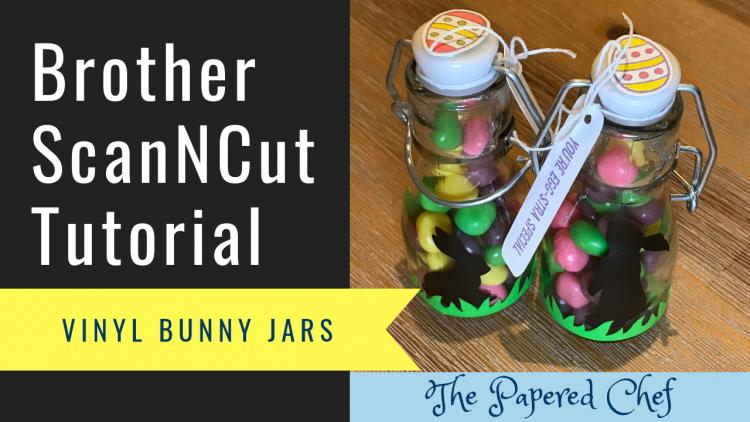 Brother ScanNCut - Vinyl Bunny Jars