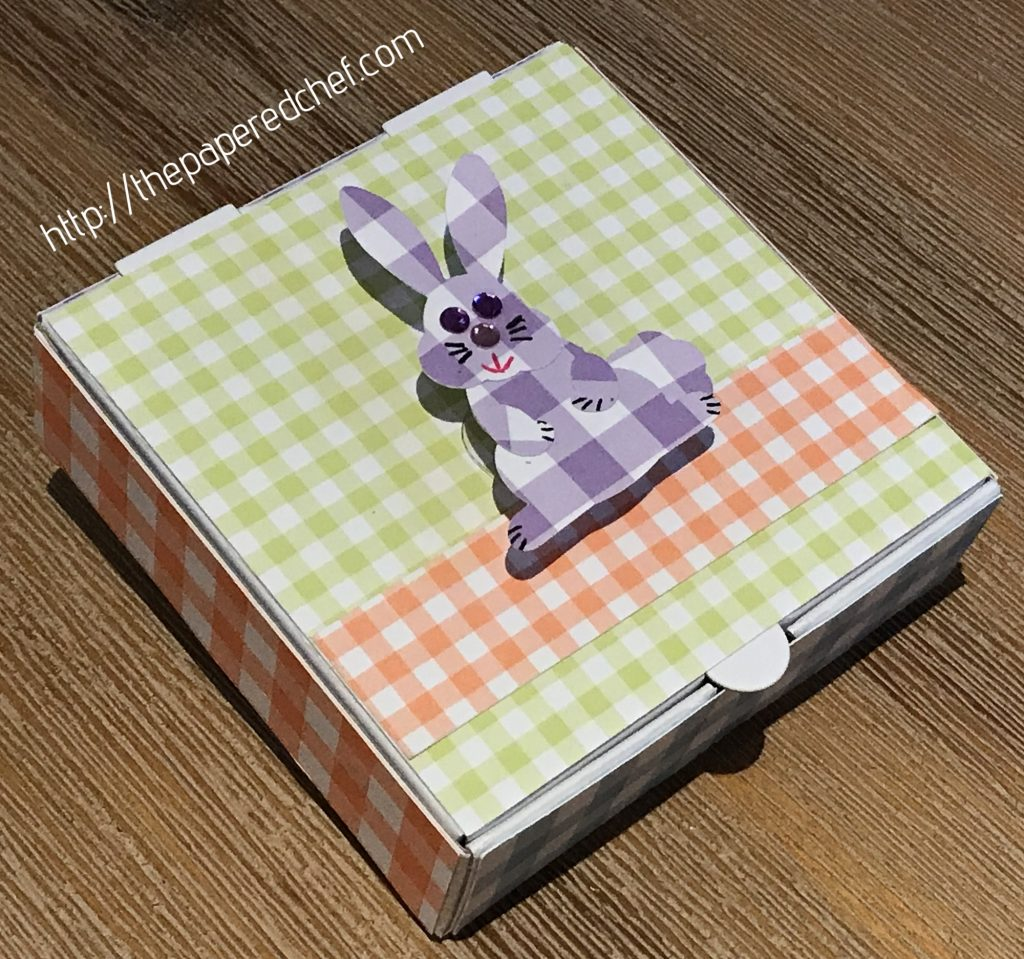 Bunny Builder Punch - Mini Pizza Box - Gingham Gala