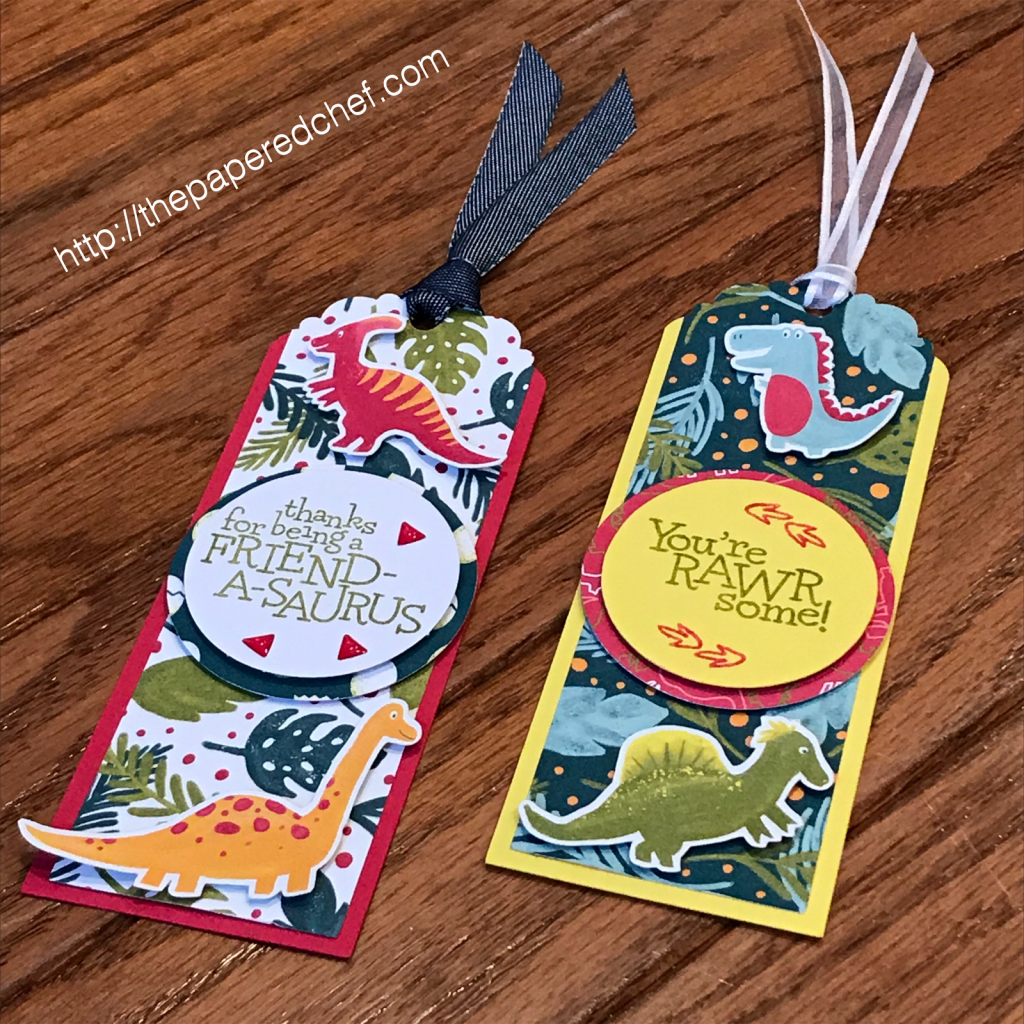 Dinoroar and Dino Days Bookmarks by Stampin' Up!