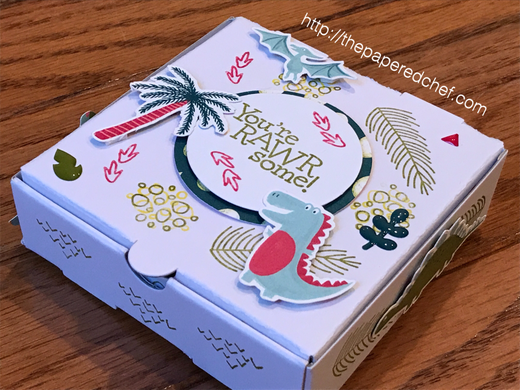Dinoroar and Dino Days Mini Pizza Box by Stampin' Up!