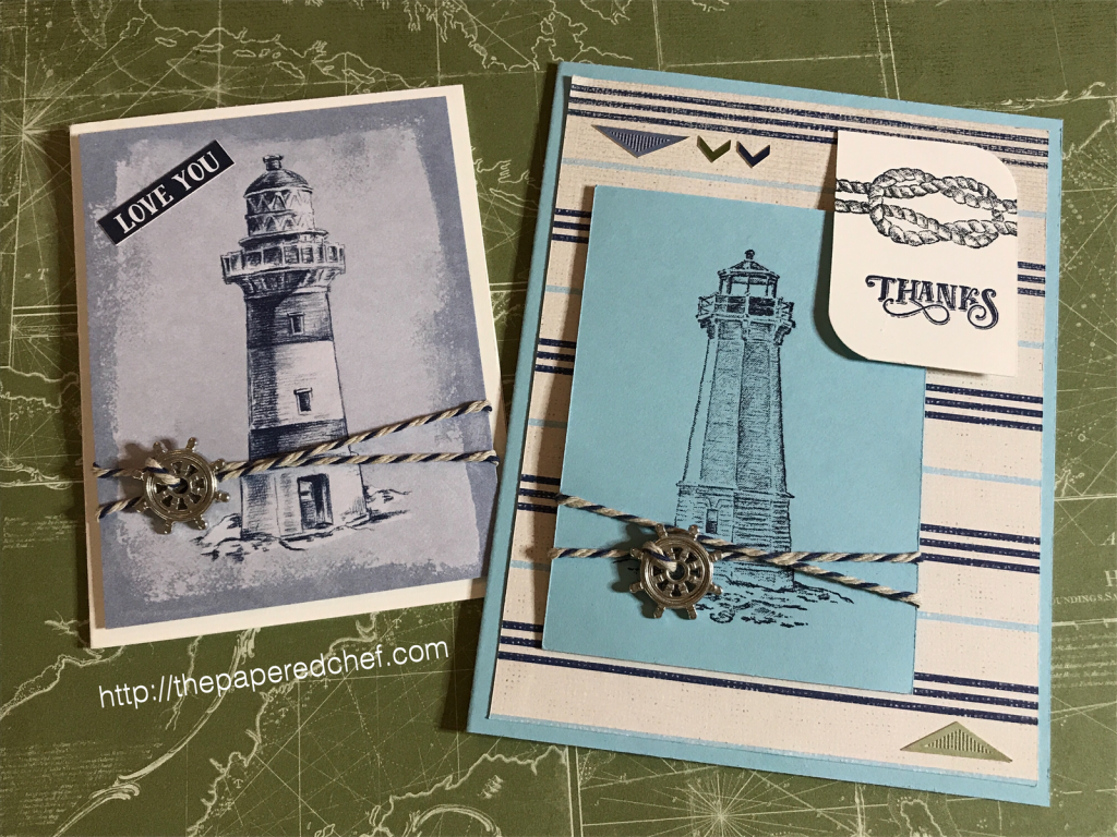 Come Sail Away Suite by Stampin' Up! - Lighthouse Cards