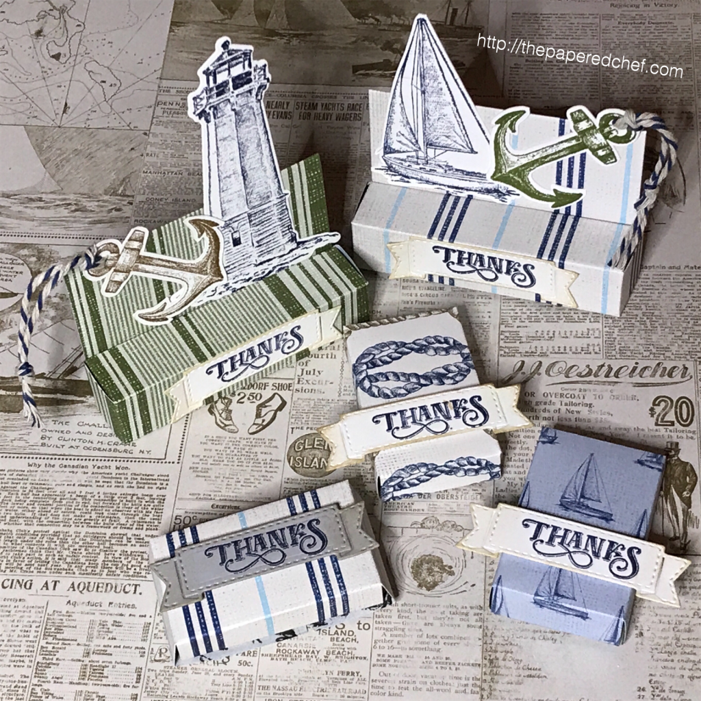 Come Sail Away Suite by Stampin' Up! - Lip Balm Box and Mini Treat Holder Box