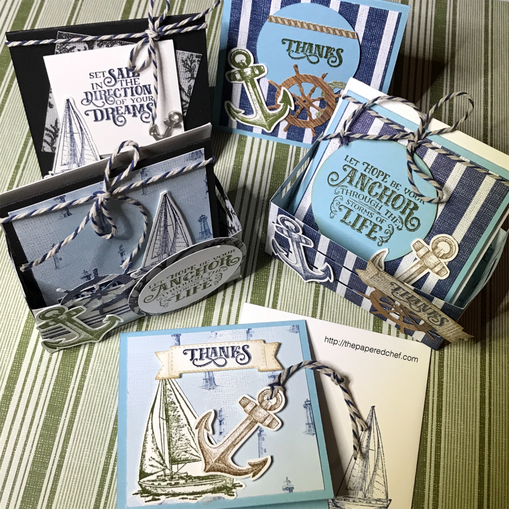 Come Sail Away Suite by Stampin' Up! - Mini Note Cards & Wood Crate