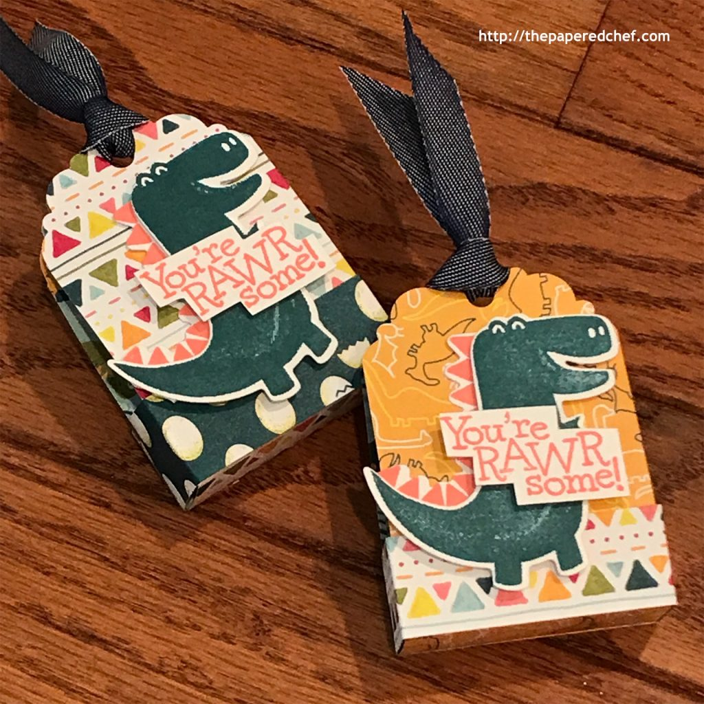 Dinoroar Suite by Stampin' Up! - Tag Treats