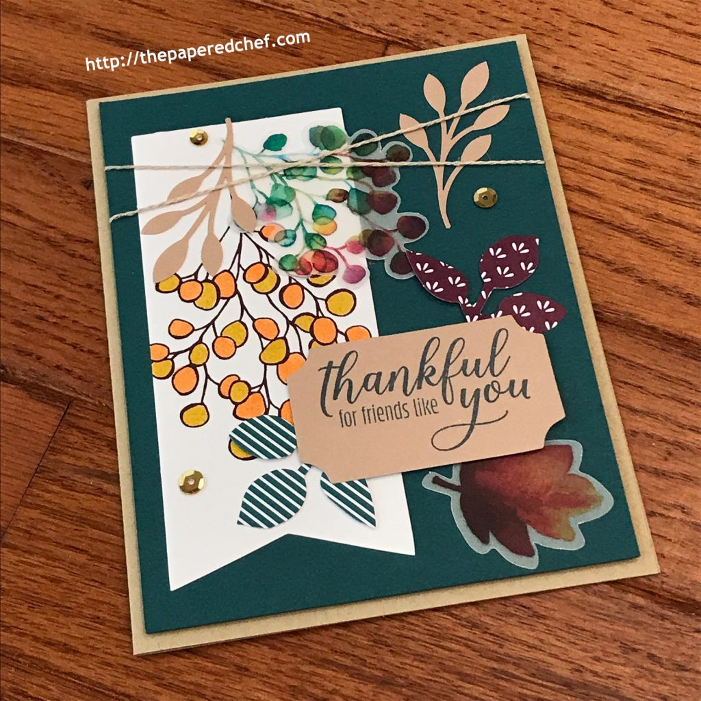 Gift of Fall Paper Pumpkin Kit - Thank You Card