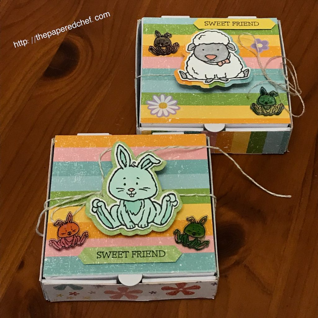 Welcome Easter Mini Pizza Boxes with Shrinky Dinks