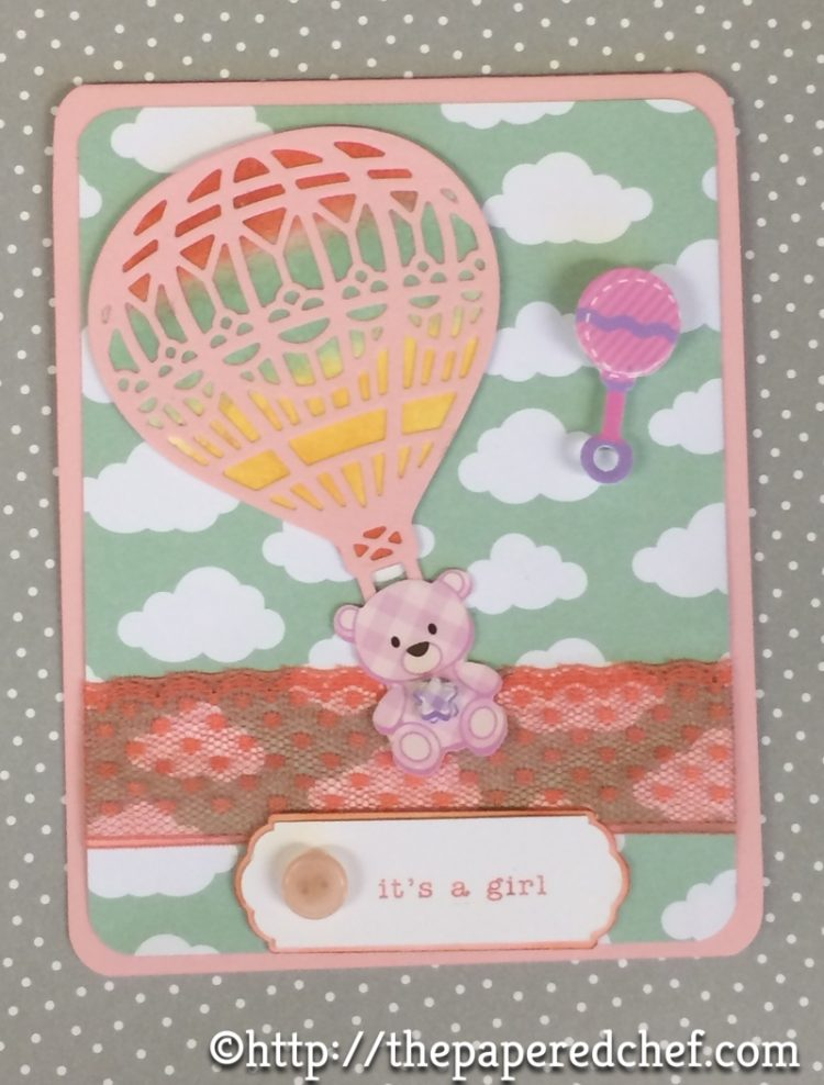 Hot Air Balloon Baby Card