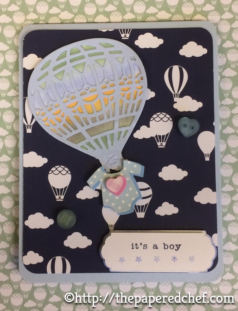 Hot Air Balloon Baby Card