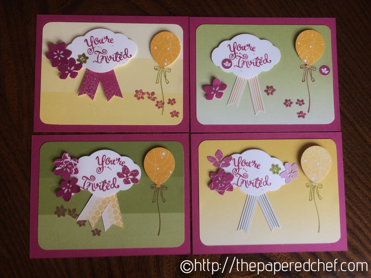 Invitations created using the Color Theory suite and stamp from All Night Media