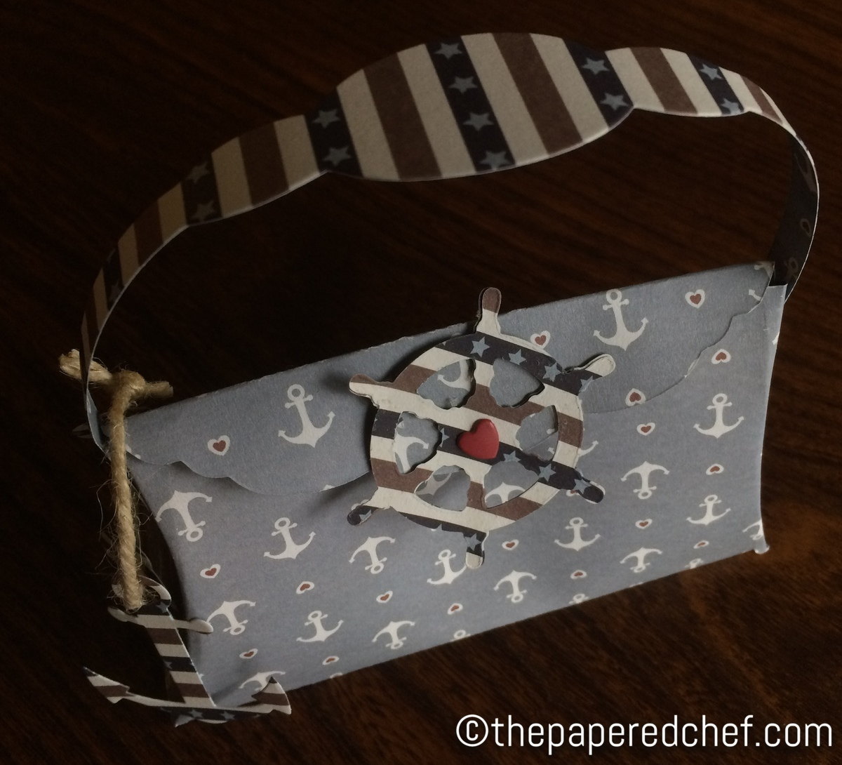 Pillow Purse created with a Nautical Theme