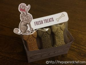 Wood Crate with Doggie Treats