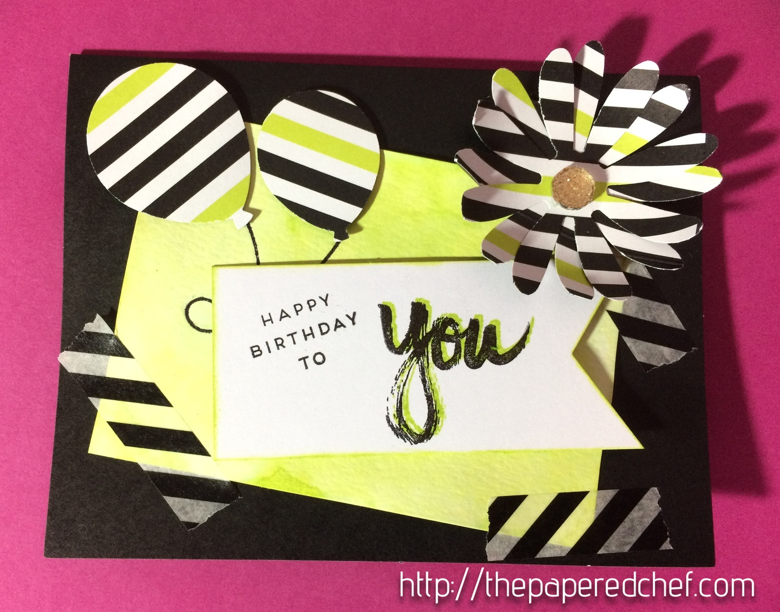 It's a Sara Thing - Alternative Paper Pumpkin card with Daisy and Balloons