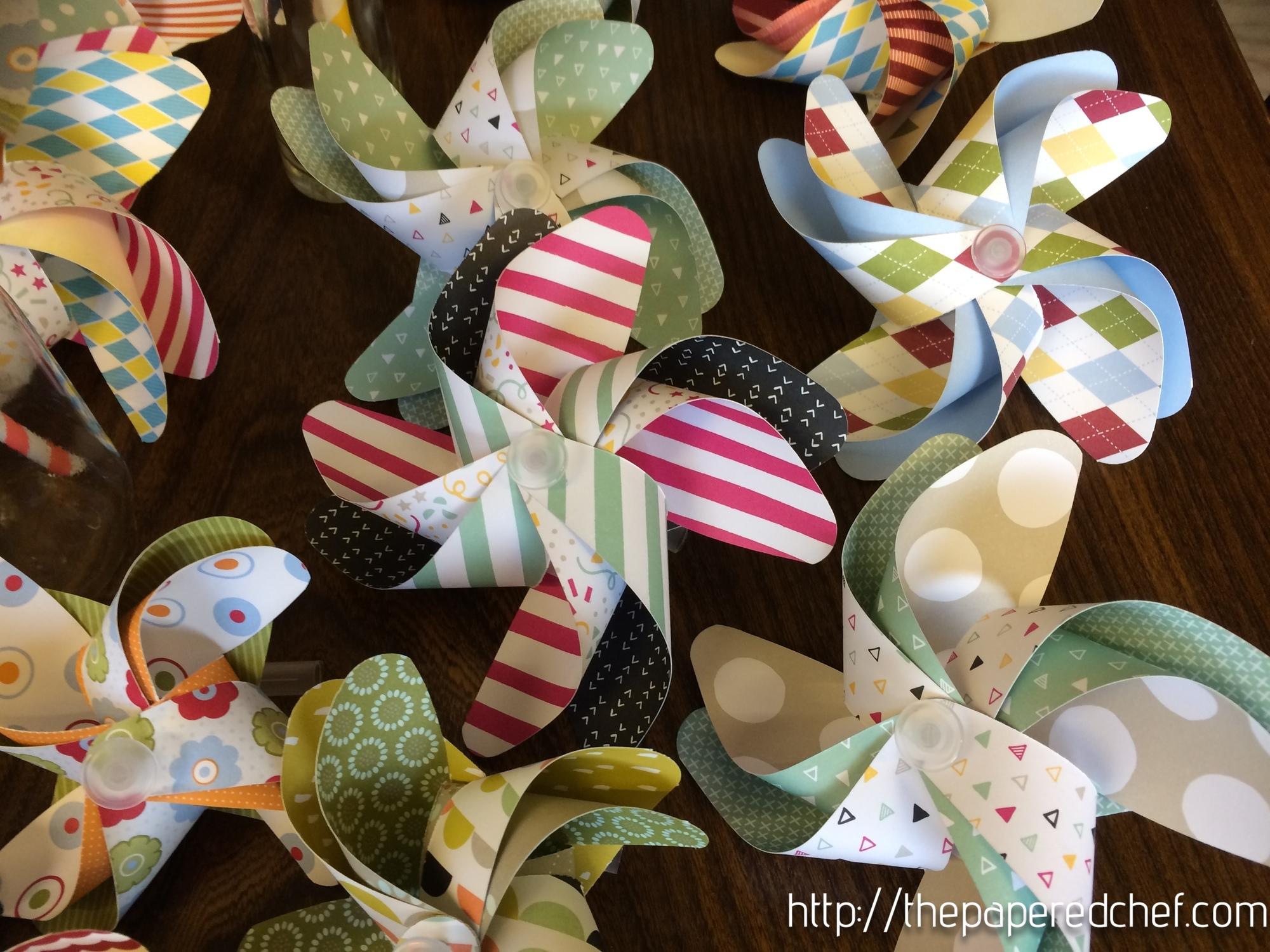 Pinwheels created with Stampin' Up Designer Series Paper