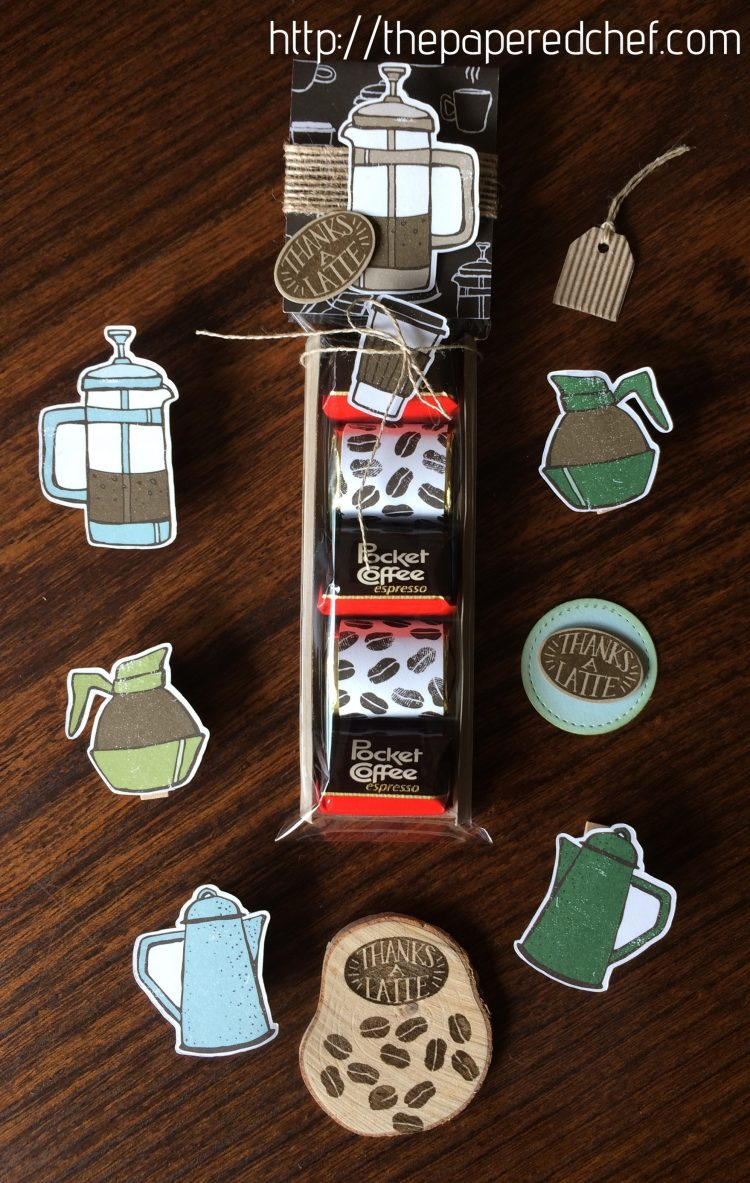 Pocket Coffee Espresso and Hershey Nugget treat - Coffee Break theme