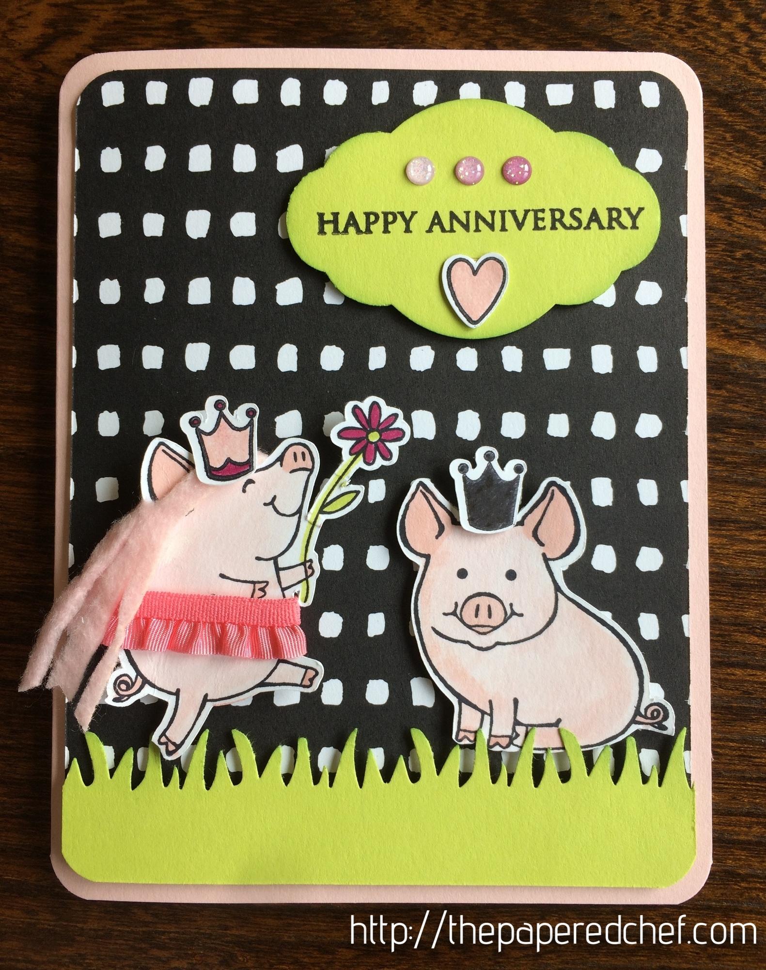 This Little Piggy Anniversary Card