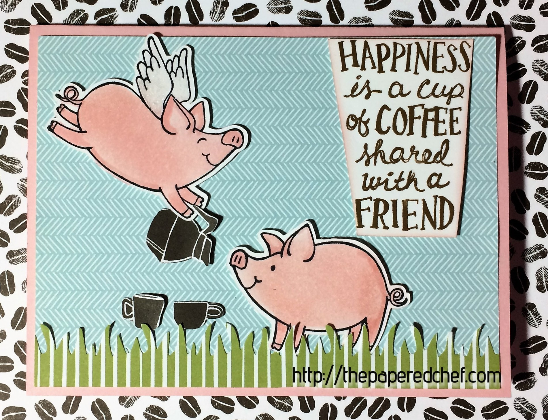 This Little Piggy - Happiness is a Cup of Coffee Shared with a Friend