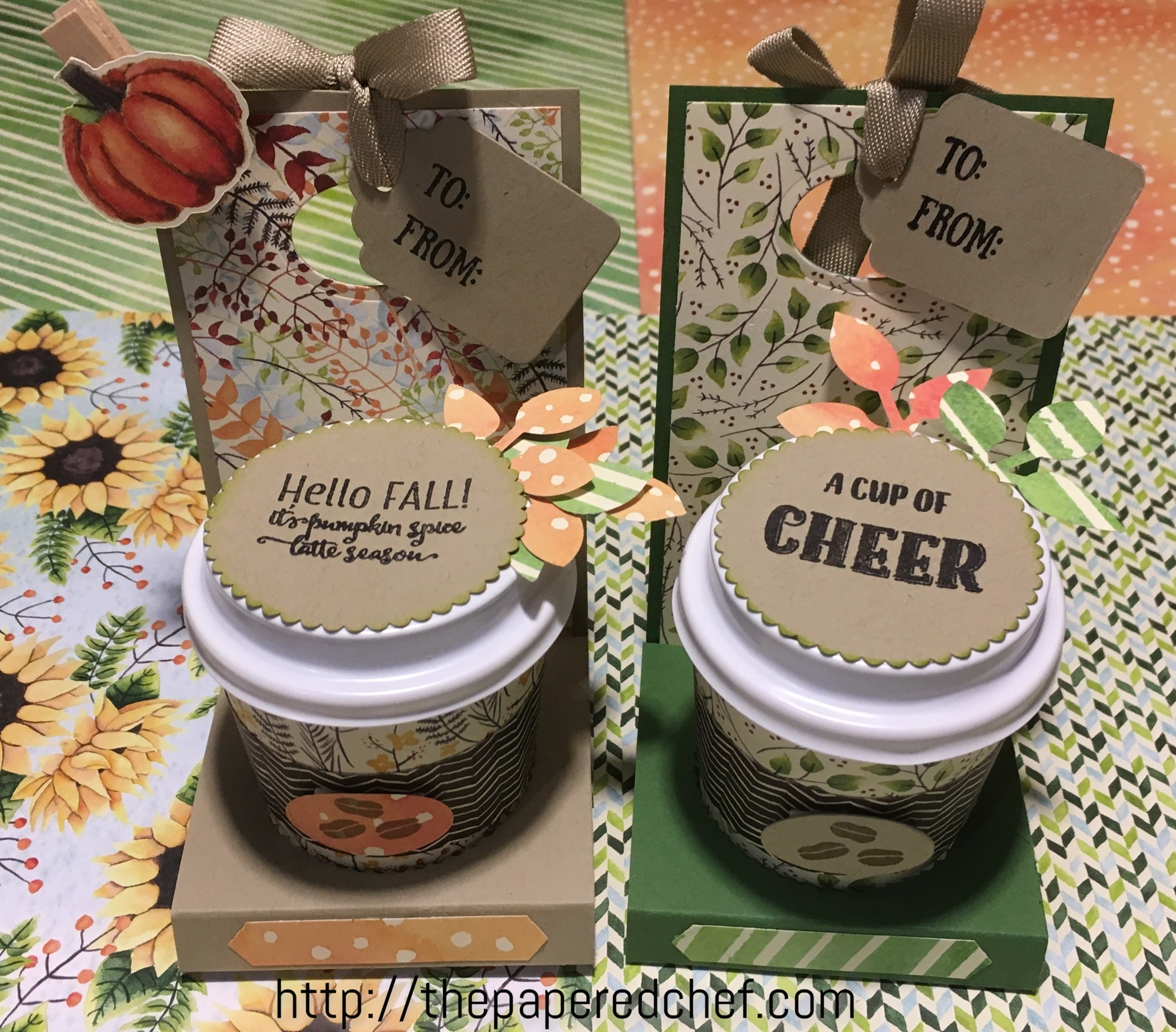 Painted Autumn Mini Coffee Cups