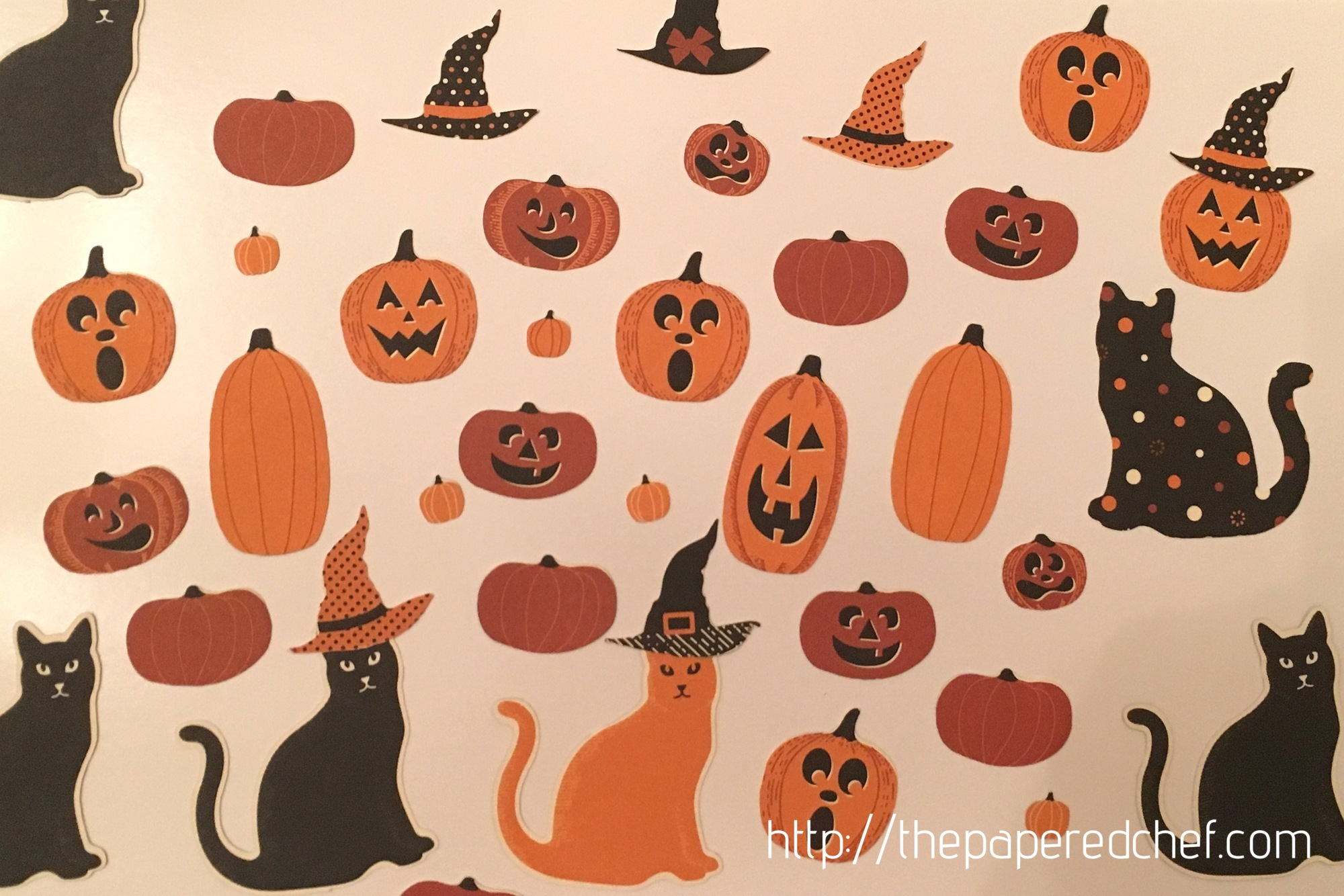 Pumpkins, Cats, and Hats cut out from the Spooky Night dsp